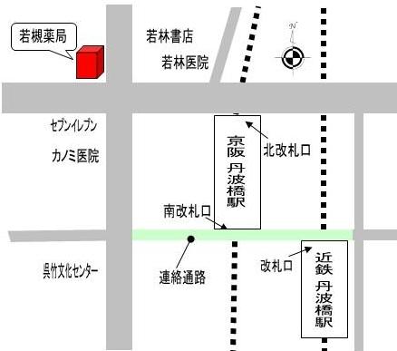 若槻薬局の地図